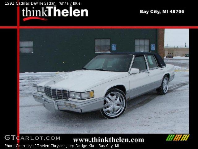 1992 Cadillac DeVille Sedan in White