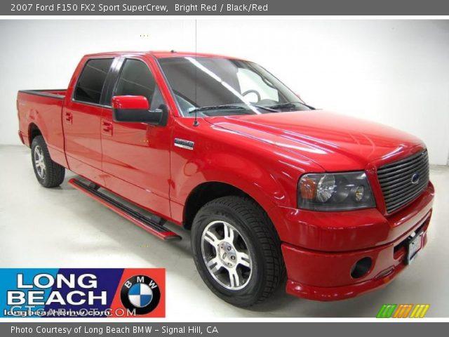 bright red 2007 ford f150 fx2 sport supercrew black red interior vehicle. Black Bedroom Furniture Sets. Home Design Ideas