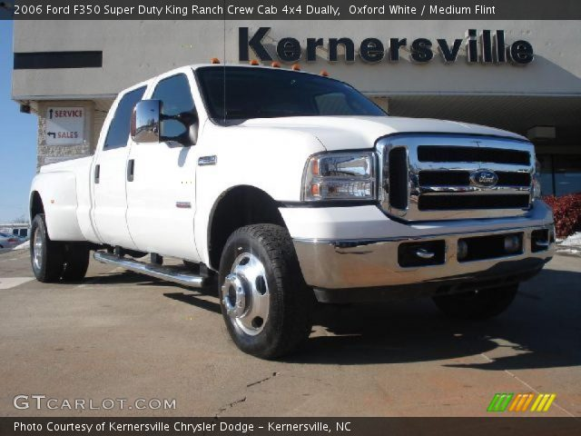 oxford white 2006 ford f350 super duty king ranch crew. Black Bedroom Furniture Sets. Home Design Ideas