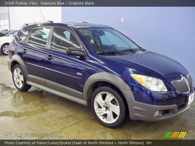 neptune blue 2006 pontiac vibe graphite black interior. Black Bedroom Furniture Sets. Home Design Ideas