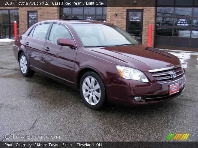 Cassis Red Pearl 2007 Toyota Avalon Xls Light Gray Interior