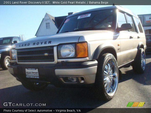 White Gold Pearl Metallic 2001 Land Rover Discovery Ii Se7 Bahama Beige Interior Gtcarlot