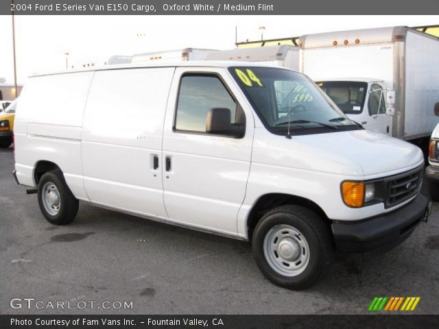 Oxford White - 2004 Ford E Series Van E150 Cargo