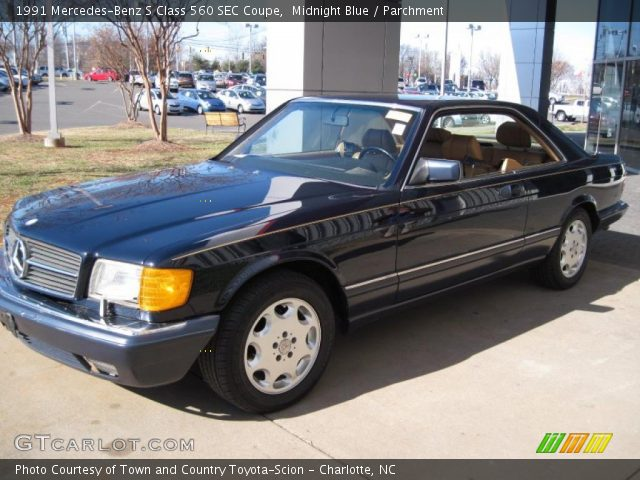 1991 Mercedes-Benz S Class 560 SEC Coupe in Midnight Blue