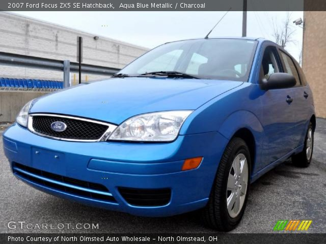 aqua blue metallic 2007 ford focus zx5 se hatchback. Black Bedroom Furniture Sets. Home Design Ideas