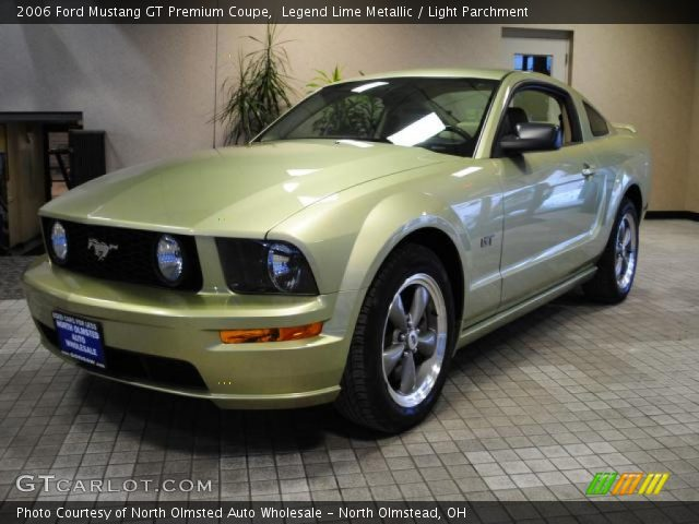 Legend Lime Metallic 2006 Ford Mustang Gt Premium Coupe