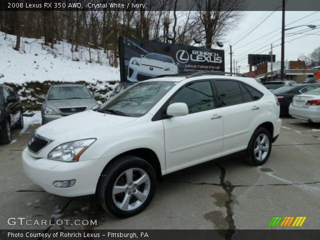 crystal white 2008 lexus rx 350 awd ivory interior vehicle archive 43184785. Black Bedroom Furniture Sets. Home Design Ideas
