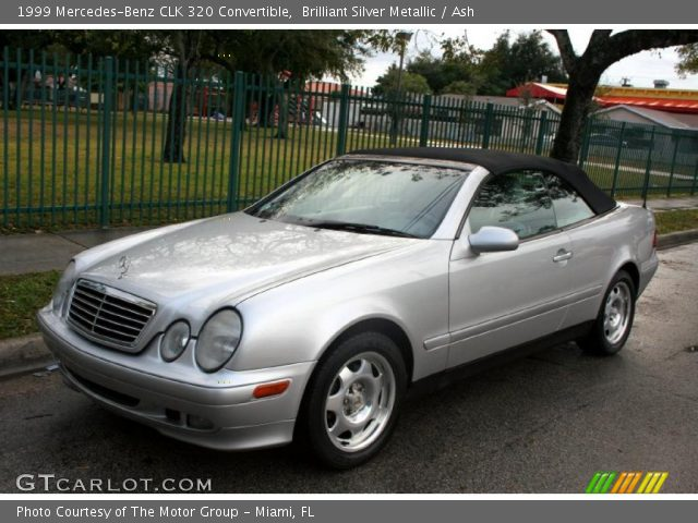brilliant silver metallic 1999 mercedes benz clk 320 convertible ash interior. Black Bedroom Furniture Sets. Home Design Ideas