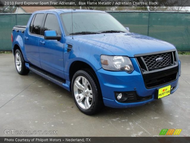 2010 Ford Explorer Sport Trac Adrenalin in Blue Flame Metallic
