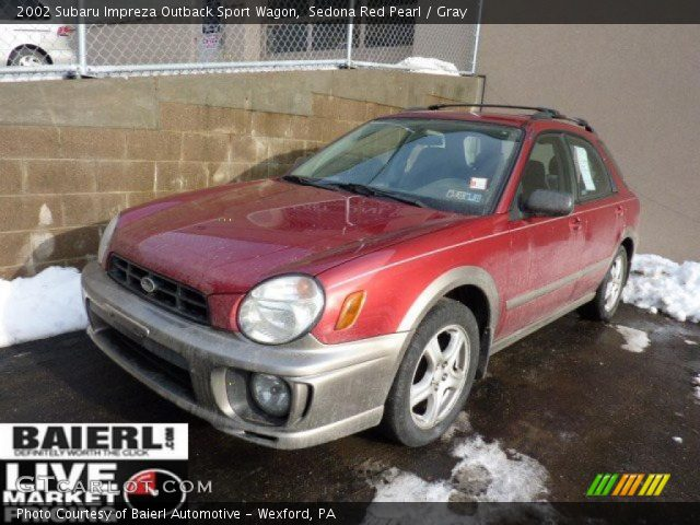 sedona red pearl 2002 subaru impreza outback sport wagon. Black Bedroom Furniture Sets. Home Design Ideas