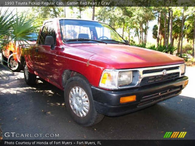 Garnet red pearl 1993 toyota pickup regular cab gray - 1993 toyota pickup interior parts ...