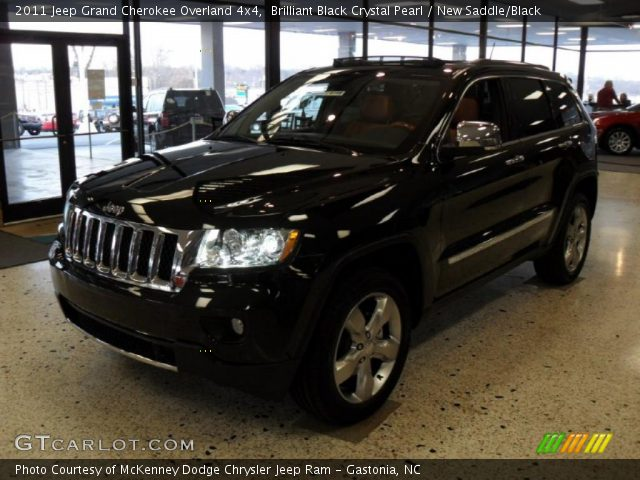 2011 Jeep Grand Cherokee Overland 4x4 in Brilliant Black Crystal Pearl