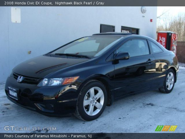 nighthawk black pearl 2008 honda civic ex coupe gray interior vehicle. Black Bedroom Furniture Sets. Home Design Ideas