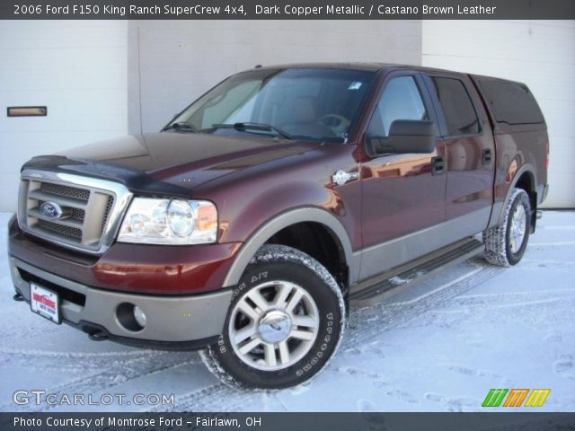 dark copper metallic 2006 ford f150 king ranch supercrew 4x4 castano brown leather interior. Black Bedroom Furniture Sets. Home Design Ideas