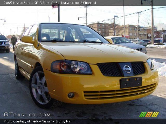sunburst yellow 2005 nissan sentra se r spec v. Black Bedroom Furniture Sets. Home Design Ideas
