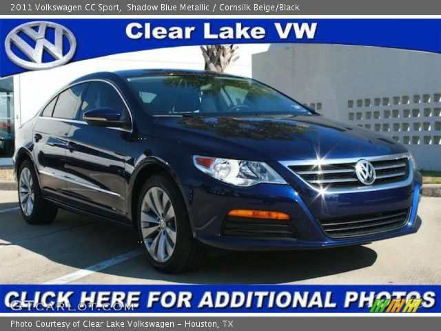 shadow blue metallic 2011 volkswagen cc sport cornsilk beige black interior. Black Bedroom Furniture Sets. Home Design Ideas
