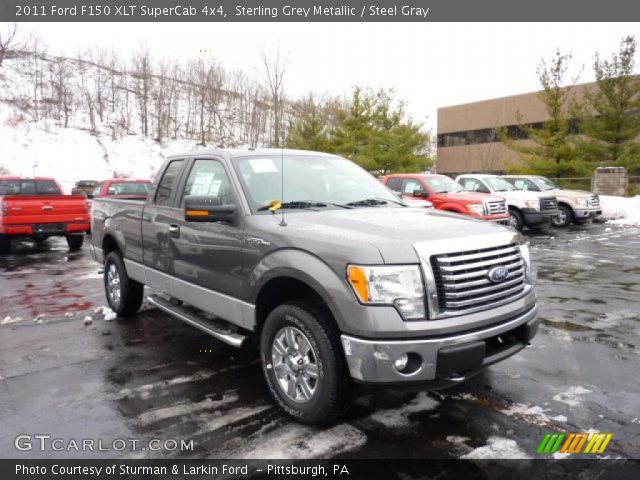 sterling grey metallic 2011 ford f150 xlt supercab 4x4 steel gray interior. Black Bedroom Furniture Sets. Home Design Ideas