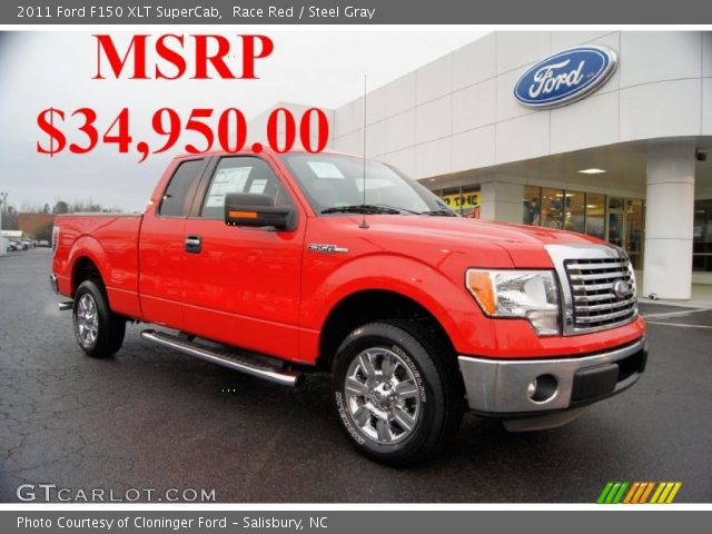 race red 2011 ford f150 xlt supercab steel gray interior vehicle archive. Black Bedroom Furniture Sets. Home Design Ideas