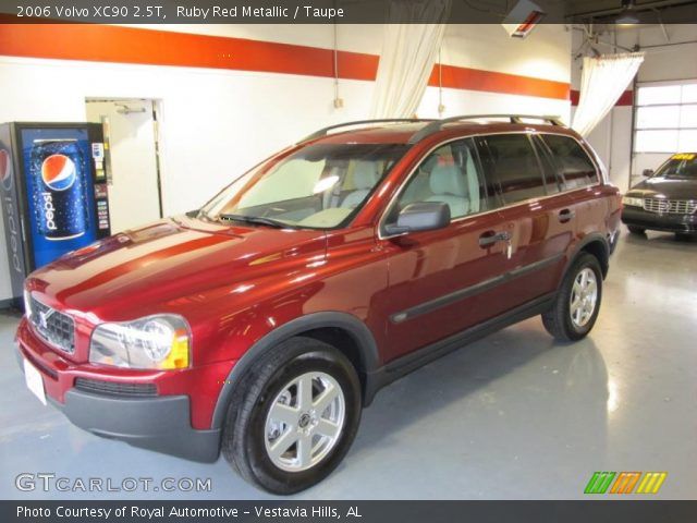 ruby red metallic 2006 volvo xc90 2 5t taupe interior vehicle archive 43990516. Black Bedroom Furniture Sets. Home Design Ideas