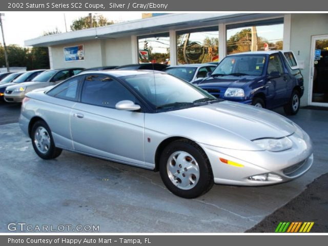 silver 2002 saturn s series sc2 coupe gray ebony interior vehicle archive. Black Bedroom Furniture Sets. Home Design Ideas