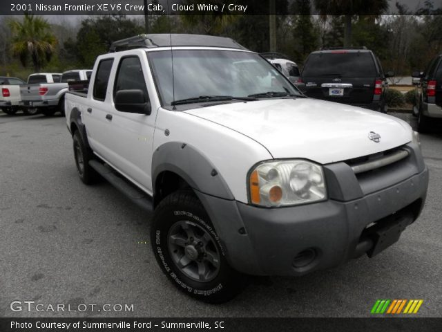 cloud white 2001 nissan frontier xe v6 crew cab gray interior vehicle. Black Bedroom Furniture Sets. Home Design Ideas