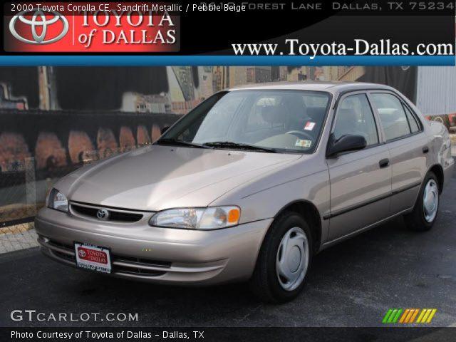 2000 Toyota Corolla CE in Sandrift Metallic