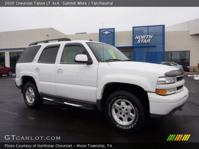 summit white 2005 chevrolet tahoe lt 4x4 tan neutral. Black Bedroom Furniture Sets. Home Design Ideas
