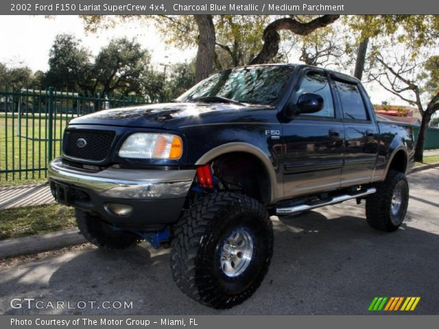 2002 Ford F150 Lariat SuperCrew 4x4 in Charcoal Blue Metallic