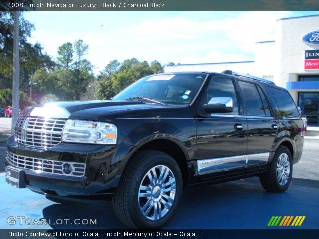 Black 2008 Lincoln Navigator Luxury Charcoal Black Interior Vehicle Archive