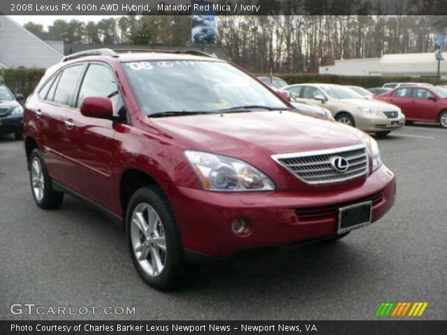 matador red mica 2008 lexus rx 400h awd hybrid ivory. Black Bedroom Furniture Sets. Home Design Ideas