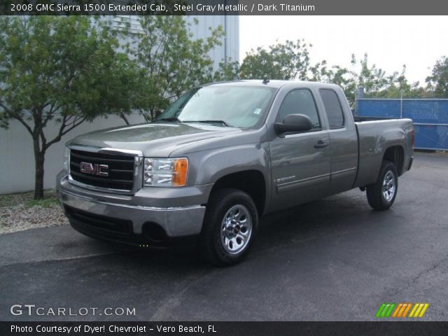 steel gray metallic 2008 gmc sierra 1500 extended cab. Black Bedroom Furniture Sets. Home Design Ideas