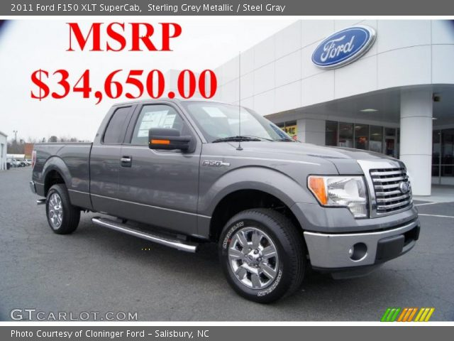 sterling grey metallic 2011 ford f150 xlt supercab steel gray interior. Black Bedroom Furniture Sets. Home Design Ideas