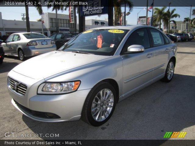 silver metallic 2010 volvo s40 off black interior vehicle archive. Black Bedroom Furniture Sets. Home Design Ideas