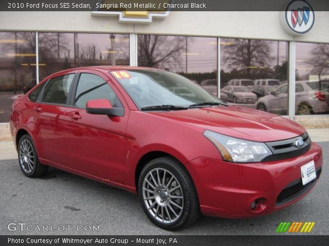 sangria red metallic 2010 ford focus ses sedan. Black Bedroom Furniture Sets. Home Design Ideas