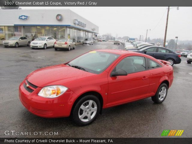 victory red 2007 chevrolet cobalt ls coupe gray. Black Bedroom Furniture Sets. Home Design Ideas