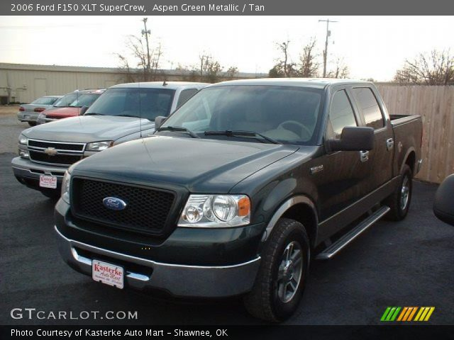 aspen green metallic 2006 ford f150 xlt supercrew tan. Black Bedroom Furniture Sets. Home Design Ideas