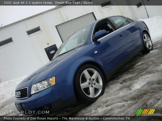 denim blue pearl 2002 audi a4 3 0 quattro sedan ebony. Black Bedroom Furniture Sets. Home Design Ideas