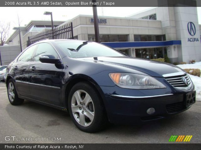 opulent blue pearl 2008 acura rl 3 5 awd sedan taupe interior vehicle. Black Bedroom Furniture Sets. Home Design Ideas