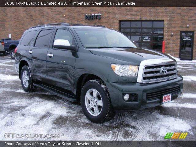 timberland green mica 2008 toyota sequoia limited 4wd. Black Bedroom Furniture Sets. Home Design Ideas