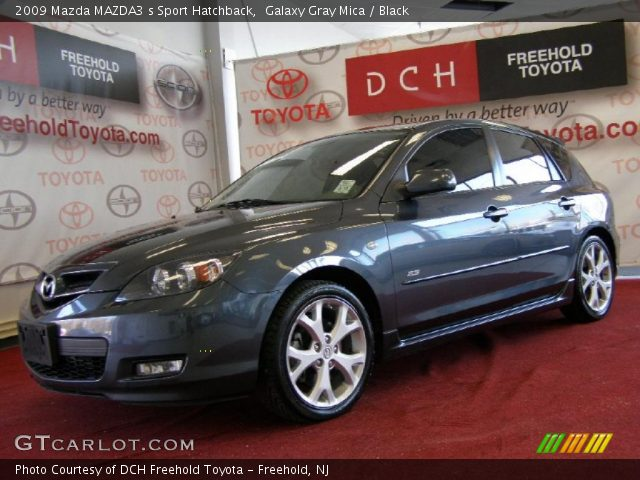 galaxy gray mica 2009 mazda mazda3 s sport hatchback. Black Bedroom Furniture Sets. Home Design Ideas