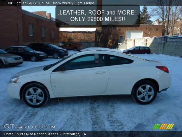 ivory white 2008 pontiac g6 gt coupe light taupe interior vehicle archive. Black Bedroom Furniture Sets. Home Design Ideas