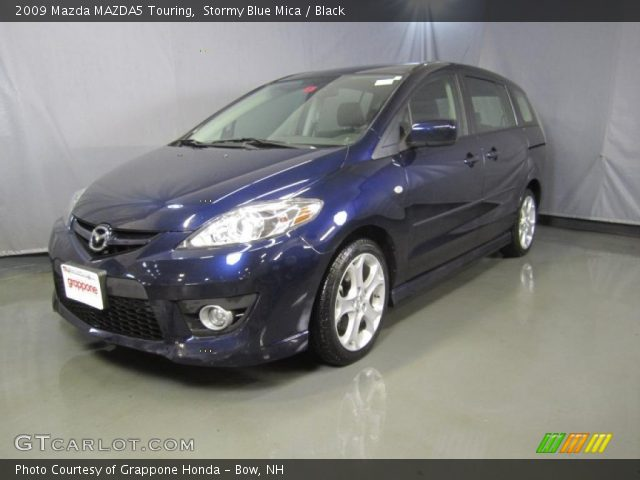 stormy blue mica 2009 mazda mazda5 touring black. Black Bedroom Furniture Sets. Home Design Ideas