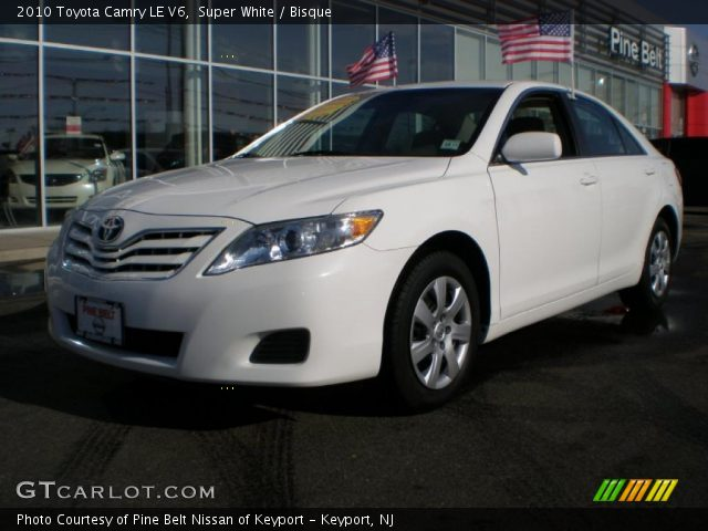 super white 2010 toyota camry le v6 bisque interior vehicle archive 44512296. Black Bedroom Furniture Sets. Home Design Ideas