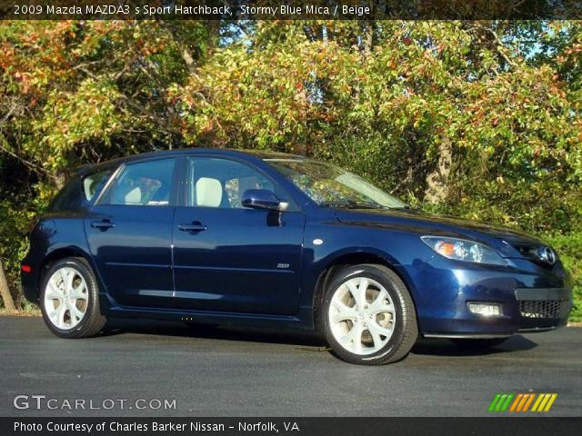 stormy blue mica 2009 mazda mazda3 s sport hatchback. Black Bedroom Furniture Sets. Home Design Ideas