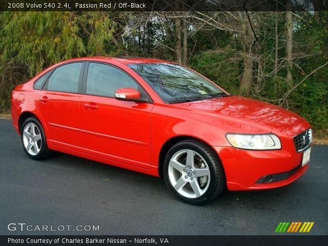 passion red 2008 volvo s40 off black interior vehicle archive 44653622. Black Bedroom Furniture Sets. Home Design Ideas