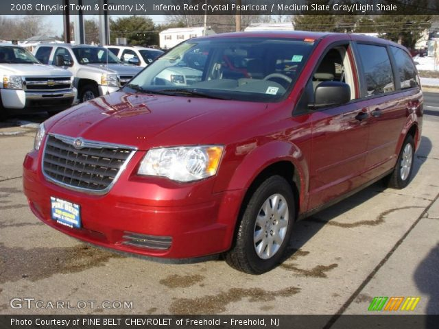inferno red crystal pearlcoat 2008 chrysler town country lx medium slate gray light shale. Black Bedroom Furniture Sets. Home Design Ideas