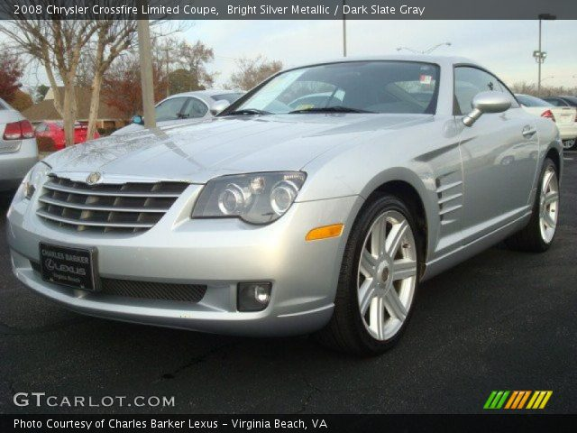 bright silver metallic 2008 chrysler crossfire limited coupe dark slate gray interior. Black Bedroom Furniture Sets. Home Design Ideas