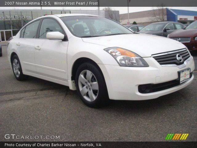 winter frost pearl 2007 nissan altima 2 5 s frost interior vehicle archive. Black Bedroom Furniture Sets. Home Design Ideas