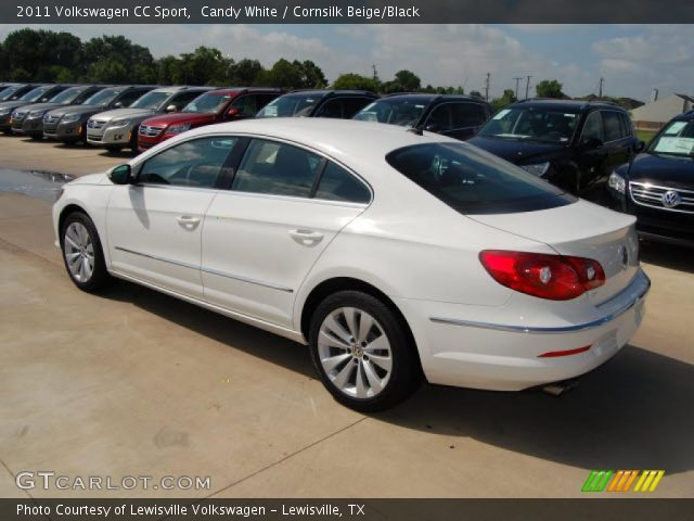 candy white 2011 volkswagen cc sport cornsilk beige black interior vehicle. Black Bedroom Furniture Sets. Home Design Ideas