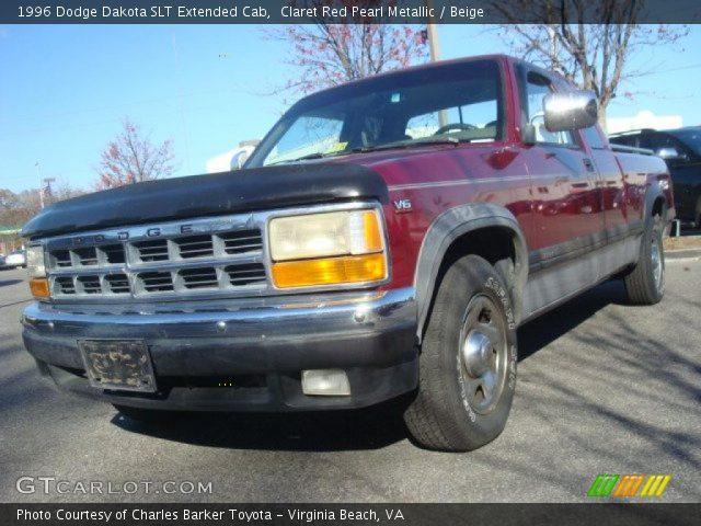 on 1996 Dodge Dakota Extended Cab Red